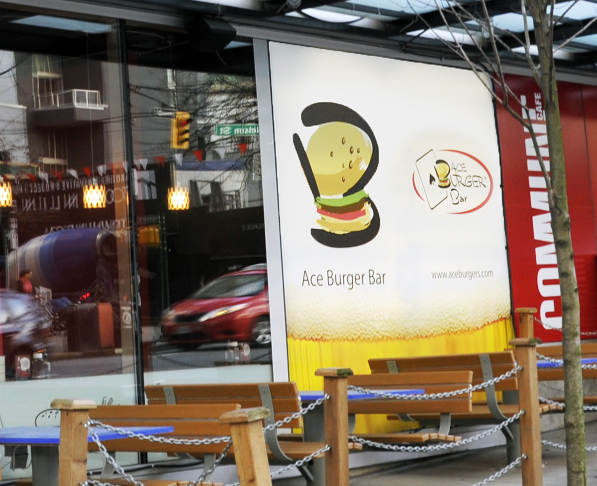 Ace Burger Illuminated Vinyl Signs Anchor Signs