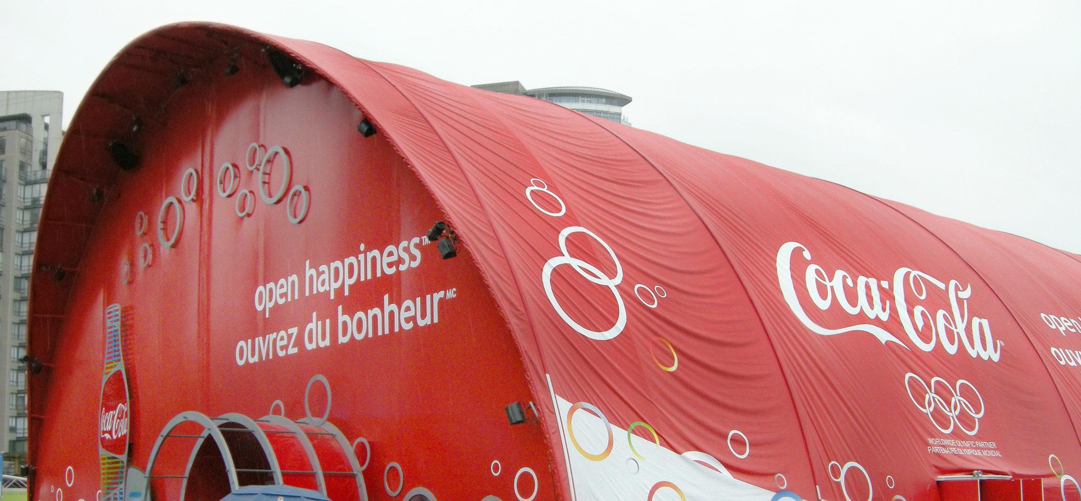 Coca Cola Vinyl Signs Vancouver 2010 Olympics Anchor Signs